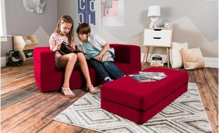 Zipline Kid's Convertible Sofa - Microsuede