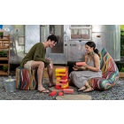 Couple playing games  Tempo Outdoor Bean Bag Collection in Kenyan Ropes Fabric