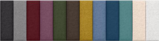 Jaxx Panelist Configurable Headboard | Microvelvet Fabric Swatch Options