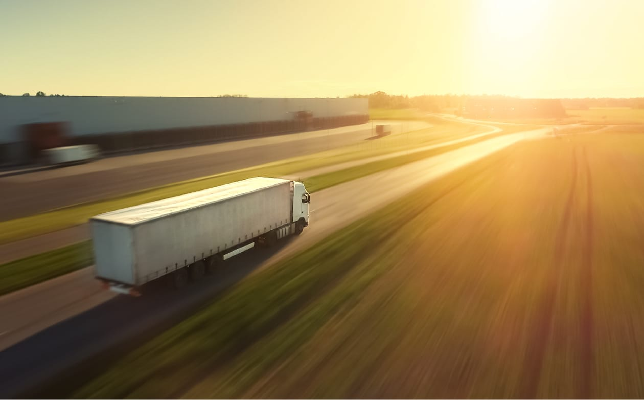 Freight Truck on highway| Less Fuel Consumption Means a Healthier Planet